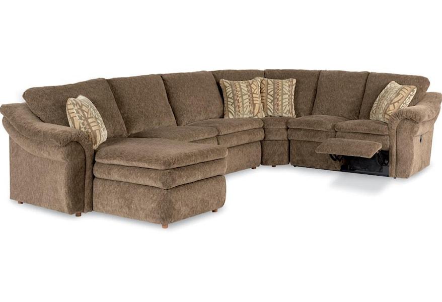 La-Z-Boy Devon 4 Piece Sectional Sofa with RAS Chaise and ...