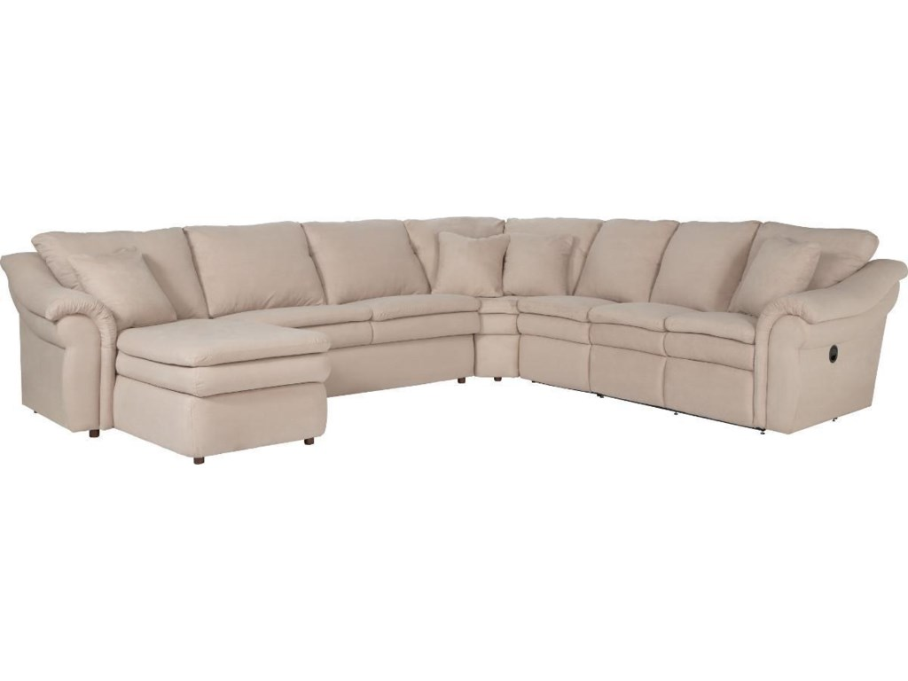 La-Z-Boy Devon 5 Piece Reclining Sectional Sofa