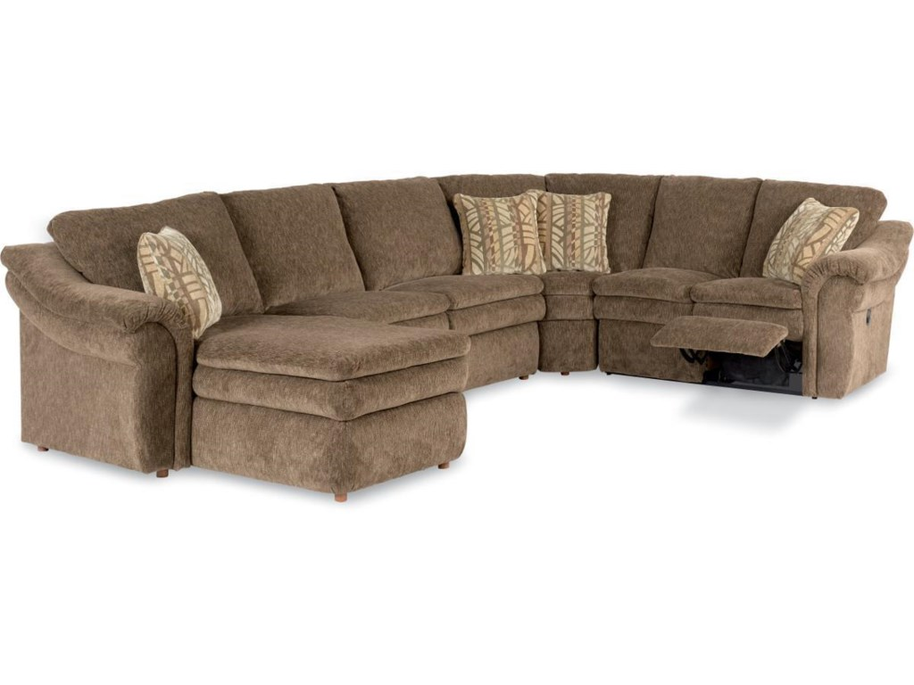 La Z Boy Devon 5 Piece Reclining Sectional Sofa