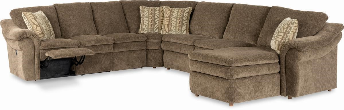 La Z Boy Devon 5 Piece Sectional With Las Chaise And Power Recline Loveseat Conlin S Furniture Reclining Sectional Sofas
