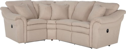 La-Z-Boy Devon  3 Pc Reclining Sectional Sofa with LAS Sofa