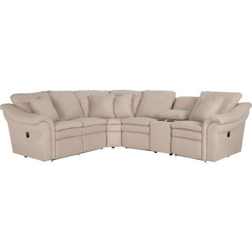 La-Z-Boy Devon  5 Pc Reclining Sectional Sofa with Cupholders and LAS Recliner