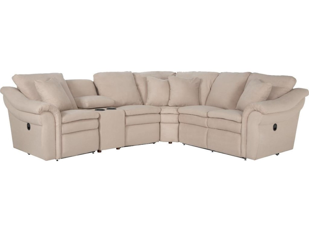 La-Z-Boy Devon 5 Pc Reclining Sectional Sofa w/ Cupholders