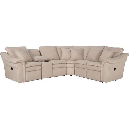 La Z Boy Devon 5 Pc Reclining Sectional Sofa With