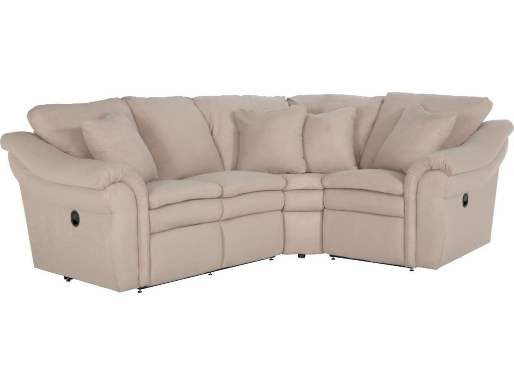 La-Z-Boy Devon 3 Pc Reclining Sectional Sofa with RAS Sofa ...