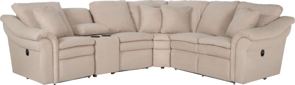 La Z Boy Devon 5 Pc Power Reclining Sectional Sofa With Cupholders