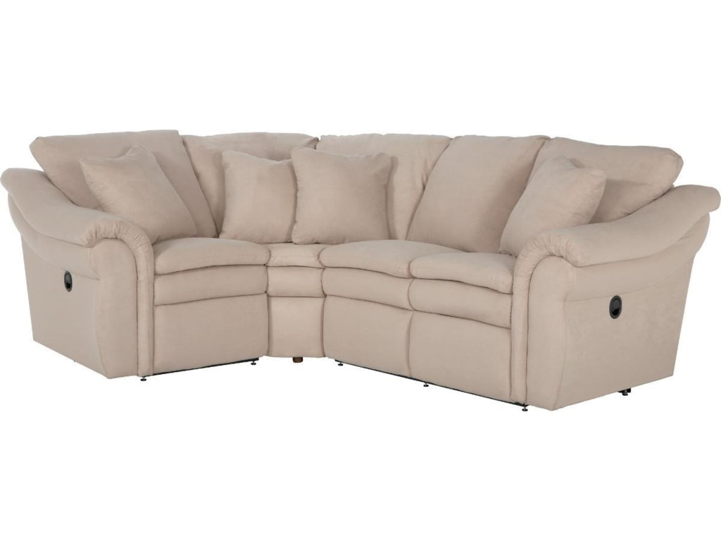 La-Z-Boy Devon 3 Pc Power Reclining Sectional Sofa with LAS ...