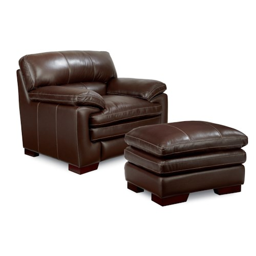 La-Z-Boy Dexter Casual Upholstered Stationary Chair and Ottoman Set