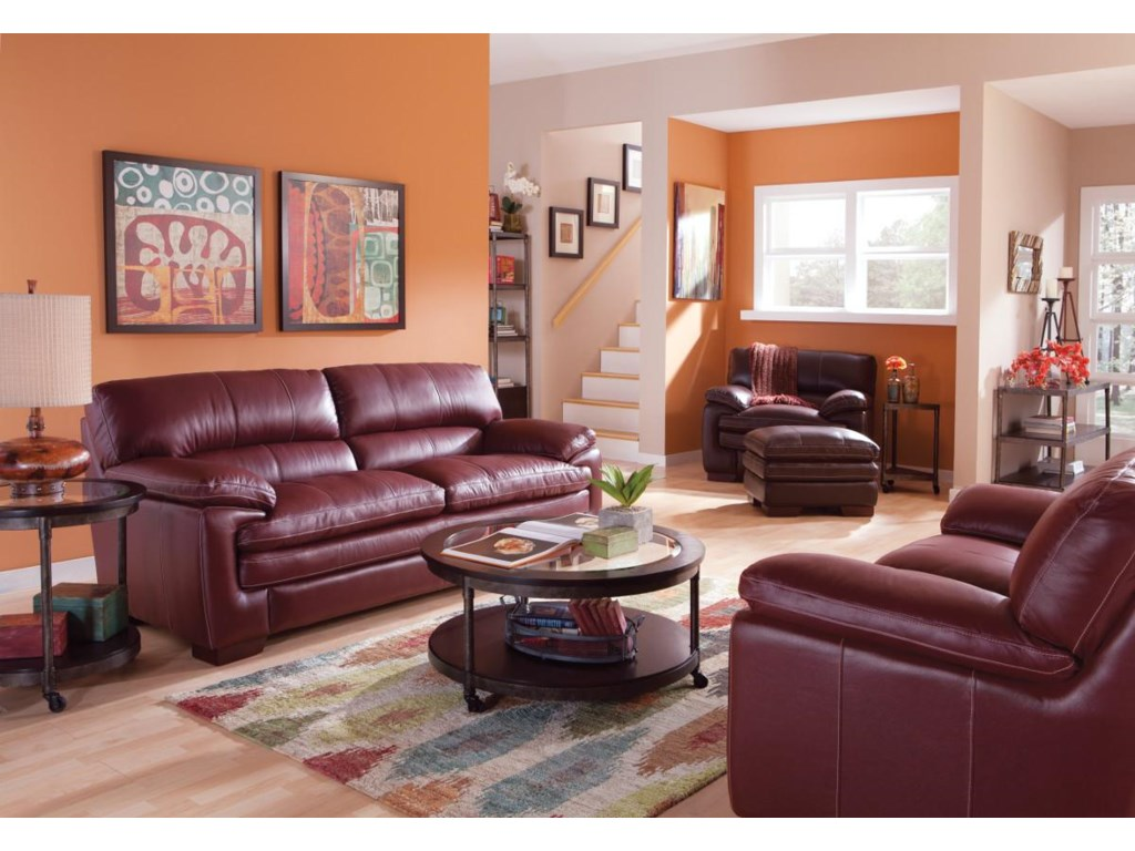 La-Z-Boy DexterCasual Upholstered Chair and Ottoman Set