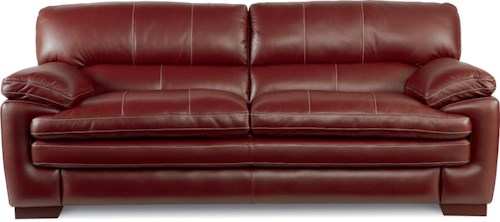 La-Z-Boy Dexter Casual Stationary Sofa with Pillow Top Arms and Seat