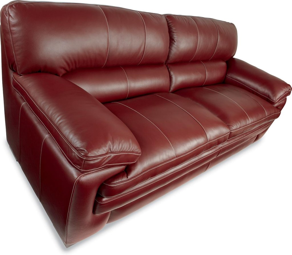 La Z Boy Dexter Casual Stationary Sofa With Pillow Top Arms And  ~ Leather Sofa Pillow Top Arms