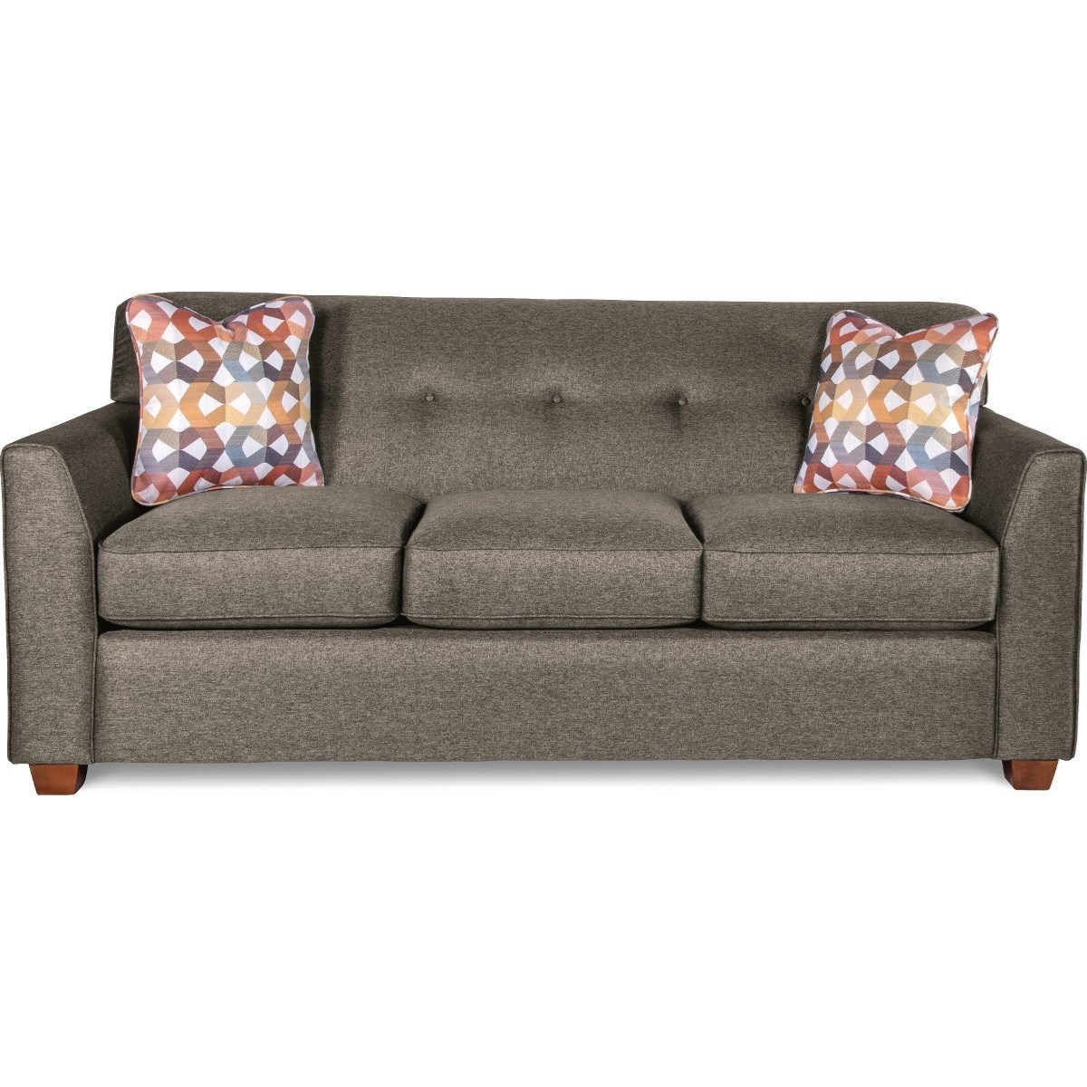 La Z Boy Dixie Contemporary Tufted Apartment Sofa With Premier ComfortCore  Cushions