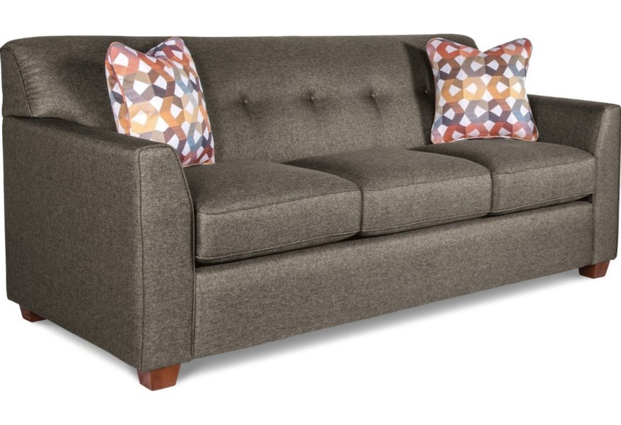 La Z Boy Dixie Contemporary Tufted Apartment Sleeper Sofa With