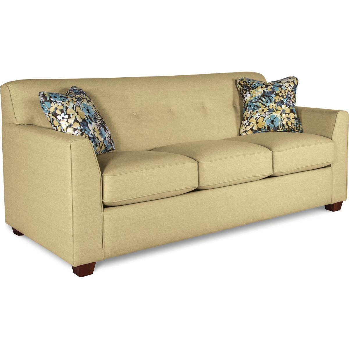 Picture of: La Z Boy Dixie Contemporary Tufted Apartment Sleeper Sofa With Premier Comfortcore Cushions Conlin S Furniture Sleeper Sofas