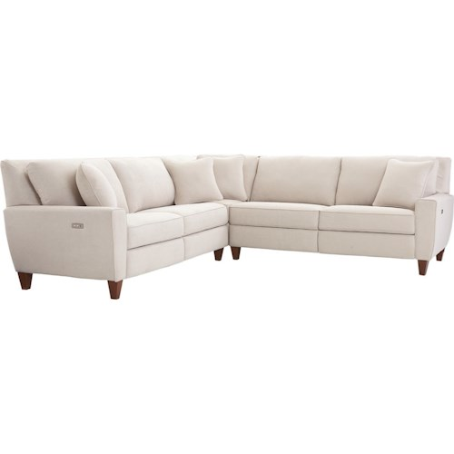La Z Boy E Three Piece Reclining Sectional Sofa With Two Chairs