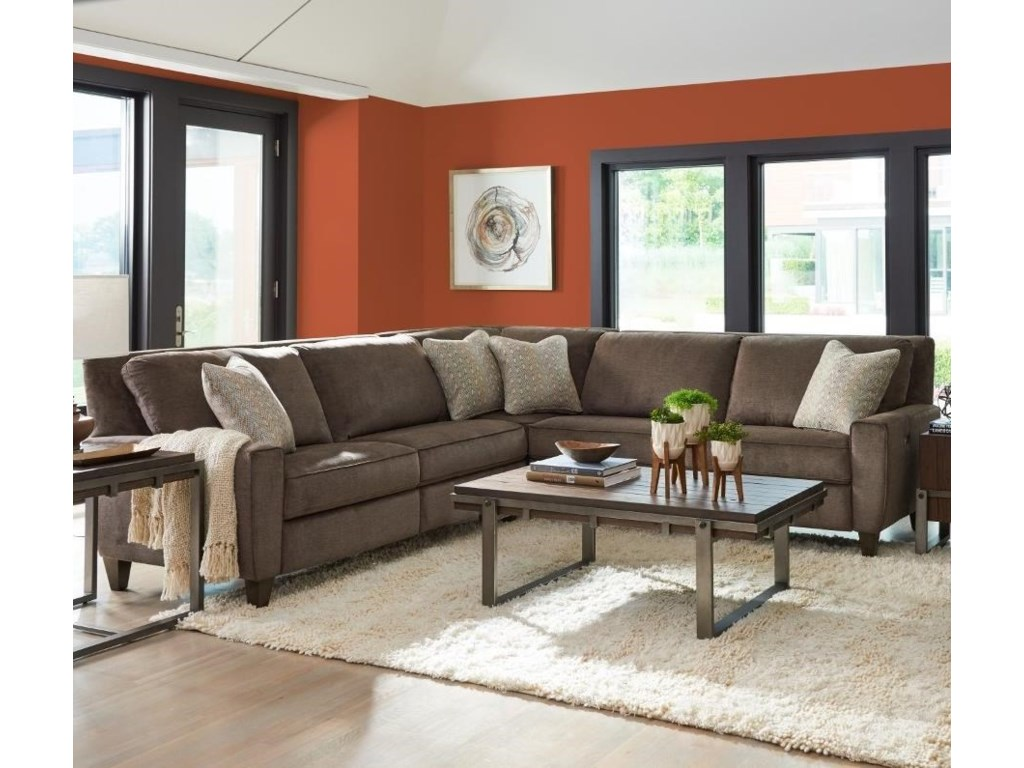 La-Z-Boy Edie Three Piece Power Reclining Sectional Sofa with Two ...