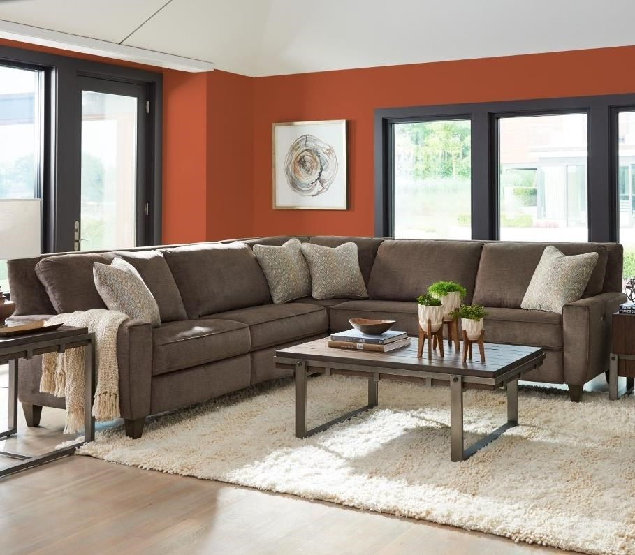 Superbe La Z Boy Edie3 Pc Reclining Sectional Sofa ...