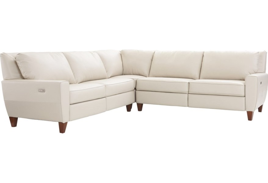 La-Z-Boy Edie Three Piece Power Reclining Sectional Sofa ...