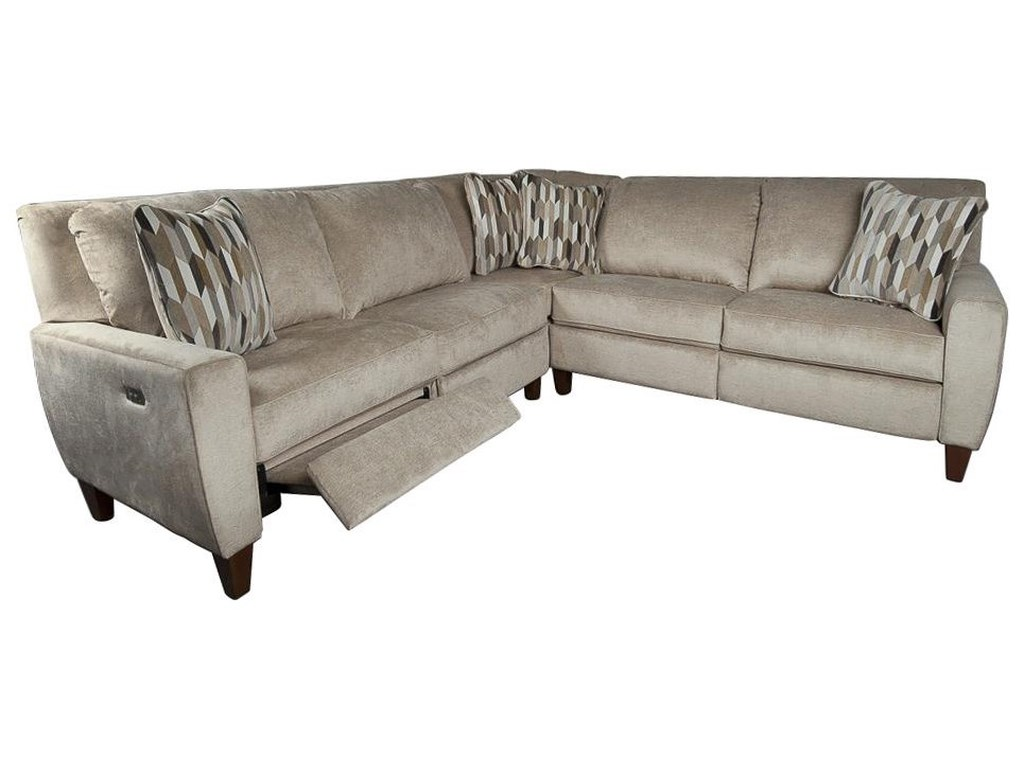 La-Z-Boy Edie Power Sectional Sofa with Decorative Accent Pillows ...