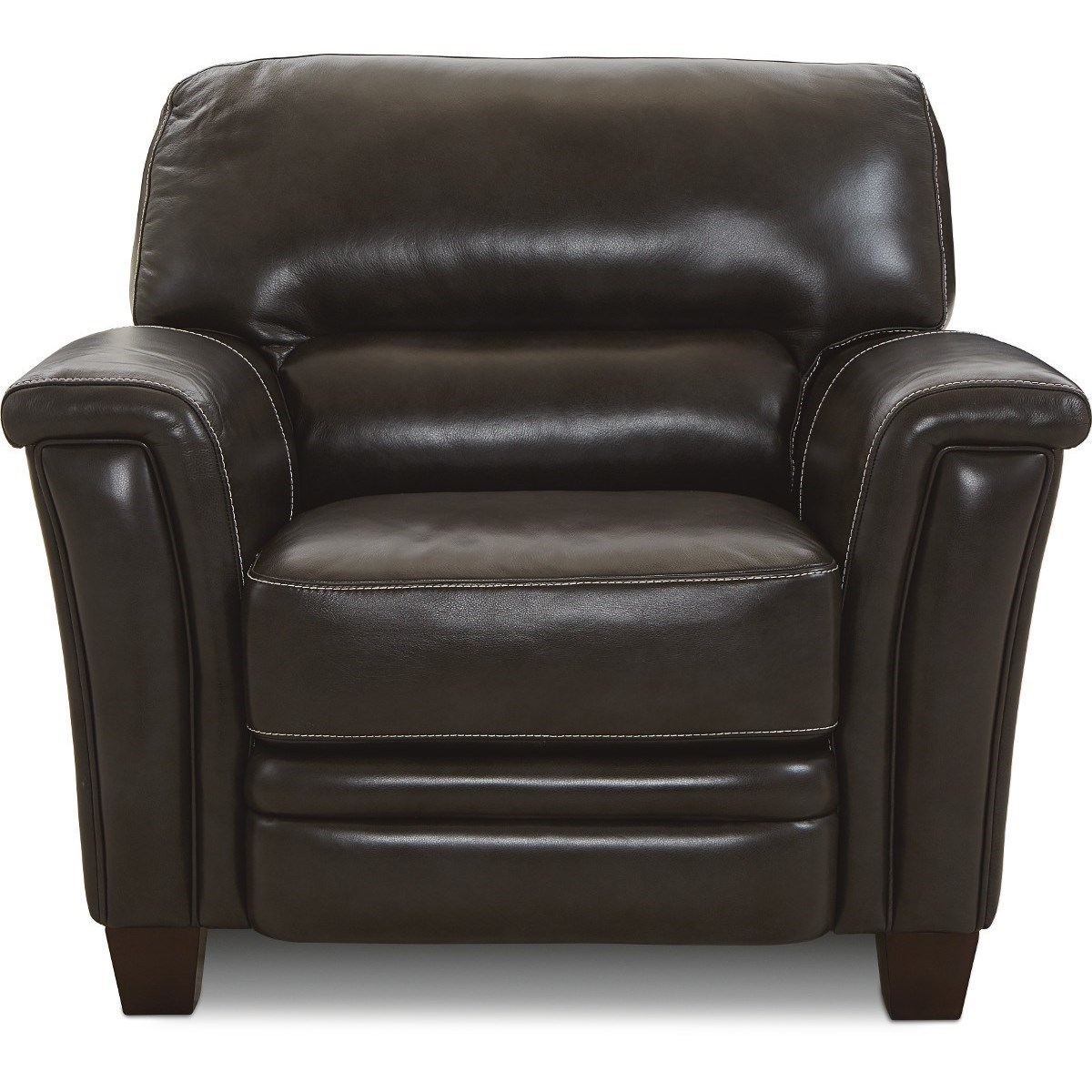 Image of: La Z Boy Ellis Contemporary Leather Chair Superstore Upholstered Chairs