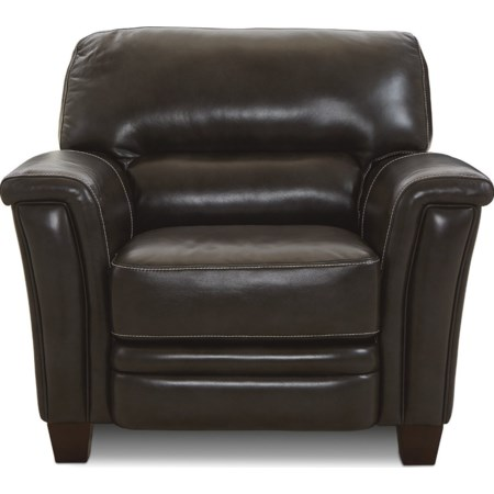 Signature Leather Stationary Chair