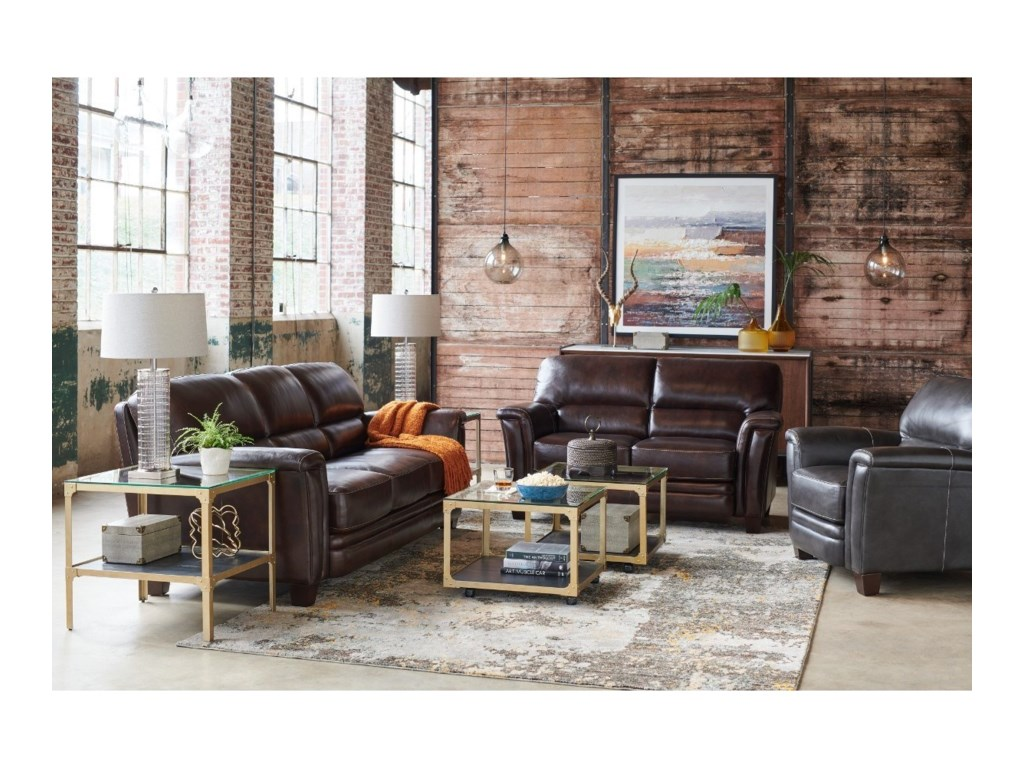 La-Z-Boy EllisSignature Leather Loveseat