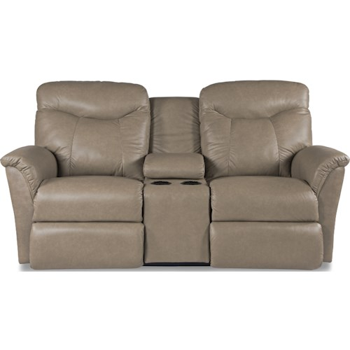 La-Z-Boy Fortune Casual Reclining Loveseat with Cupholders and Storage Console