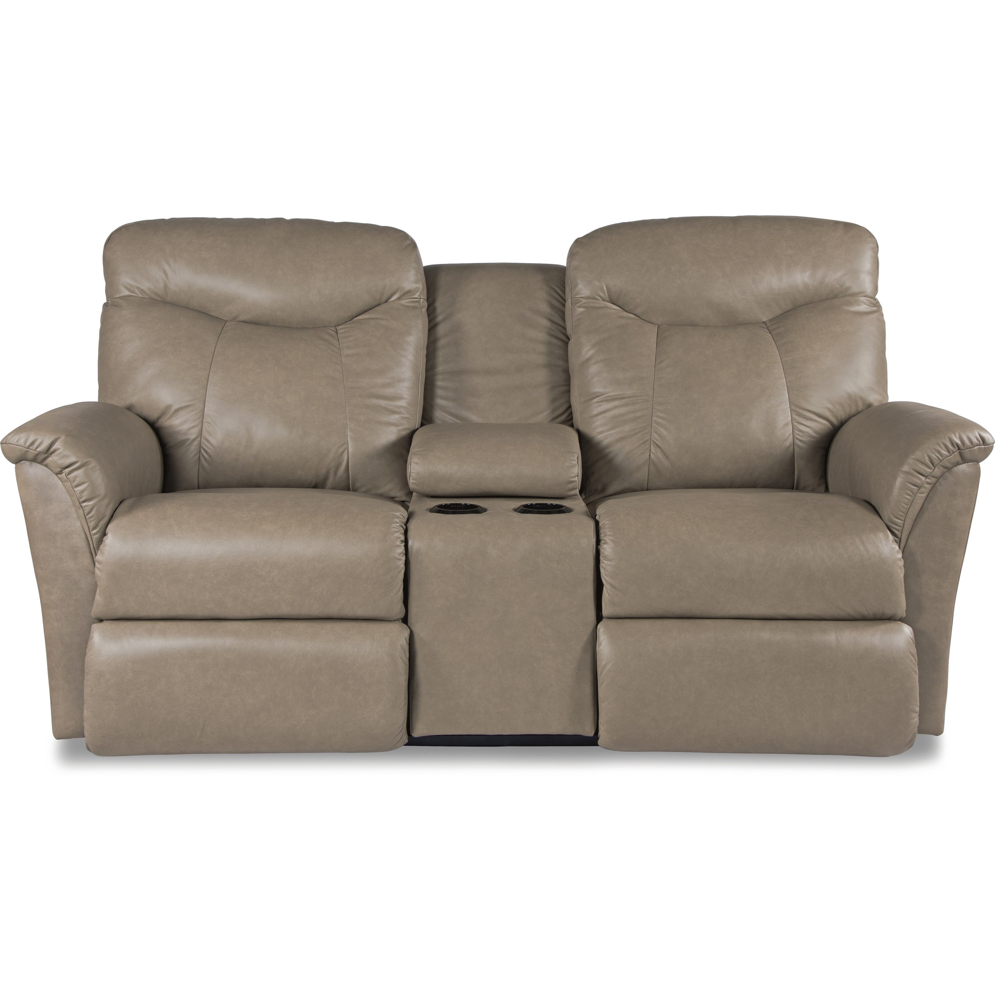 La Z Boy Fortune Casual Reclining Loveseat With Cupholders And Storage  Console   Great American Home Store   Reclining Love Seats