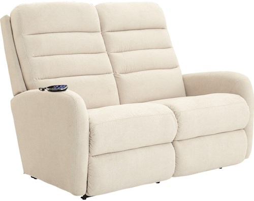 La-Z-Boy Forum Contemporary Power-Recline-XRw™+ Rocking Reclining Loveseat with Adjustable Head and Lumbar