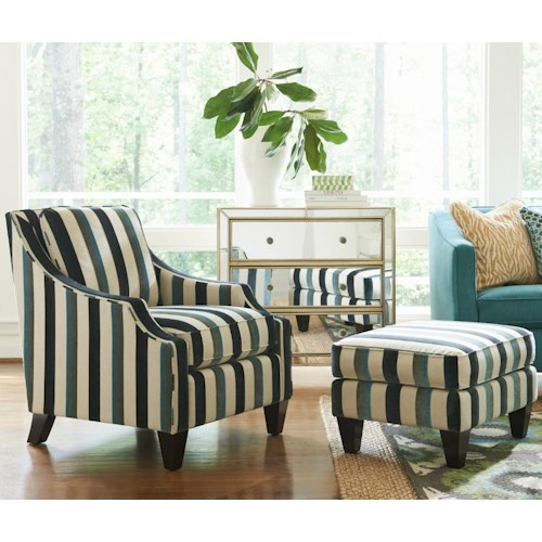 La z boy gatsby contemporary chair and ottoman set for Lay z boy living room set