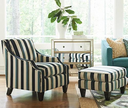 La-Z-Boy GATSBY Contemporary Chair and Ottoman Set