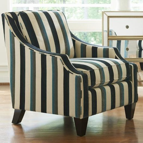 La-Z-Boy GATSBY Contemporary Chair with Scalloped Arms