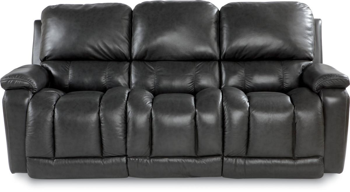 La Z Boy Sofa La-Z-Boy Greyson Casual Power La-Z-Time Full Reclining Sofa with Bucket  Seating