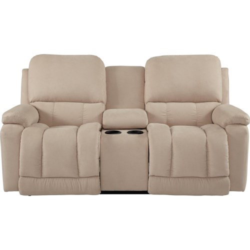 La-Z-Boy Greyson Casual La-Z-Time® Full Reclining Loveseat w/Console with Bucket Seating