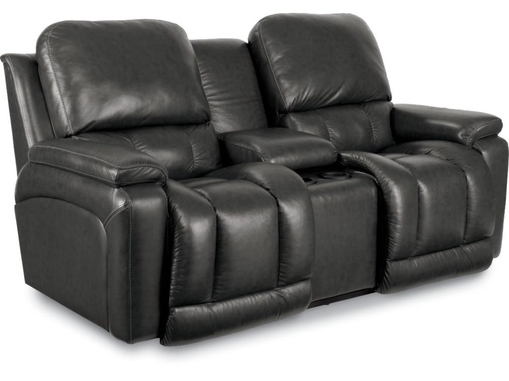 La-Z-Boy GreysonLa-Z-Time Full Reclining Loveseat w/Console