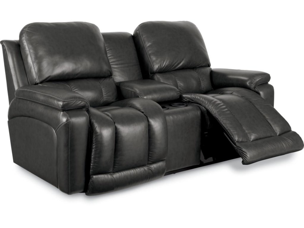 La-Z-Boy GreysonLa-Z-Time® Full Reclining Loveseat w/Console