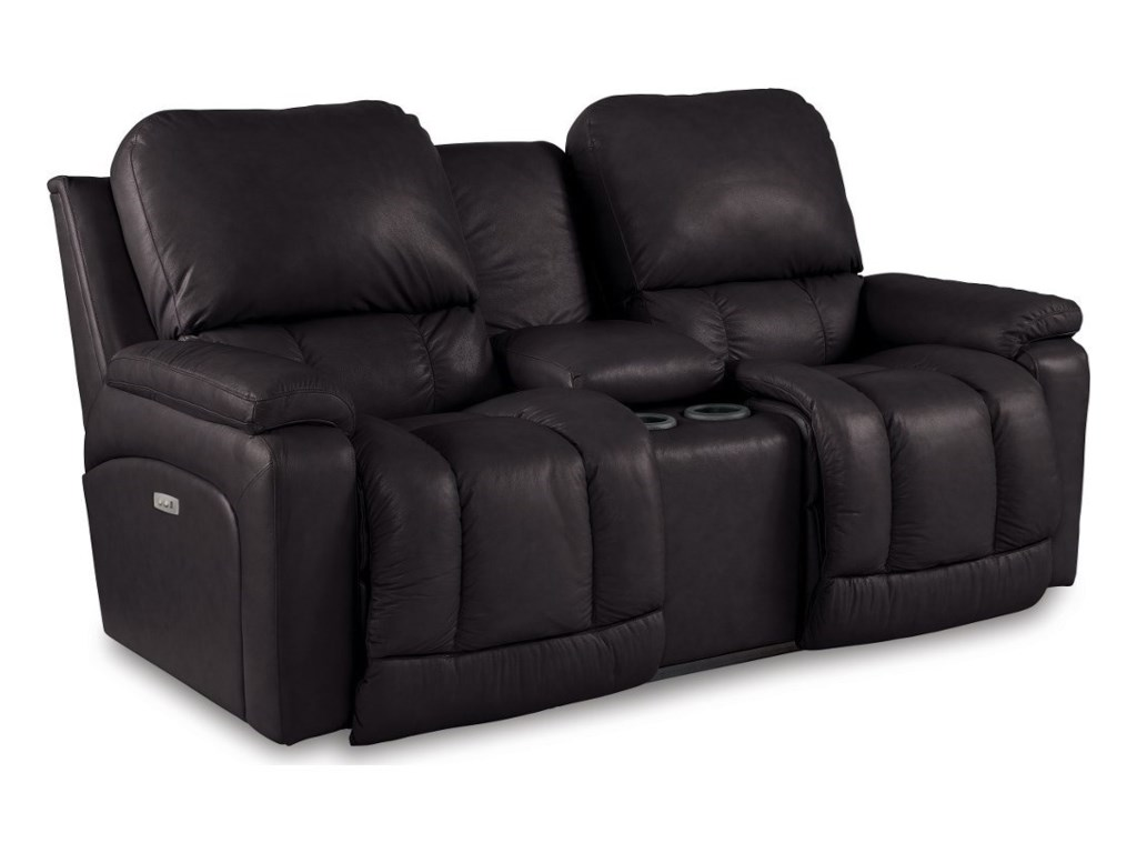 La-Z-Boy GreysonPower La-Z-Time Reclining Console Loveseat
