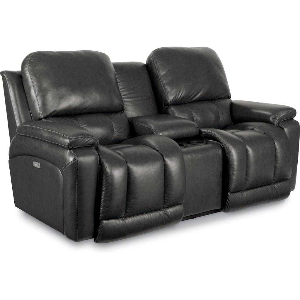 La Z Boy Greyson 100 Leather Power Reclining Sofa Refil Sofa