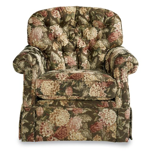 La Z Boy Hampden Traditional Swivel Rocker With Tufted
