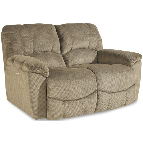 La-Z-Boy Hayes Casual Power La-Z-Time®Full Reclining Loveseat with Channel-Stitched Back