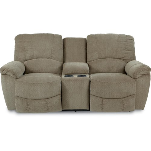 La Z Boy Hayes Casual Power La Z Time Full Reclining Loveseat With Middle Console And Channel