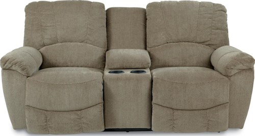 La-Z-Boy Hayes Casual Power La-Z-Time??Full Reclining Loveseat with Middle Console and Channel-Stitched Back