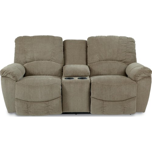 La-Z-Boy Hayes Casual Power La-Z-Time®Full Reclining Loveseat with Middle Console and Channel-Stitched Back