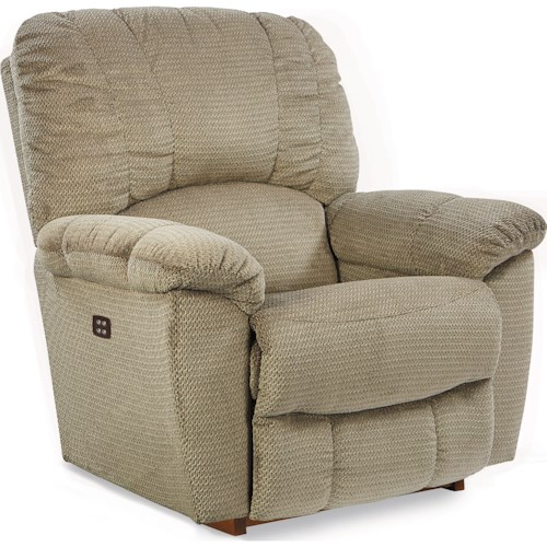 La-Z-Boy Hayes Casual Power-Recline-XR RECLINA-ROCKER??with Channel-Stitched Back