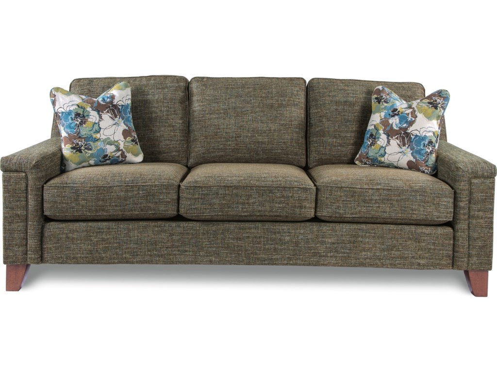 Hazel Contemporary Sofa With Comfort Core Cushion By La Z Boy