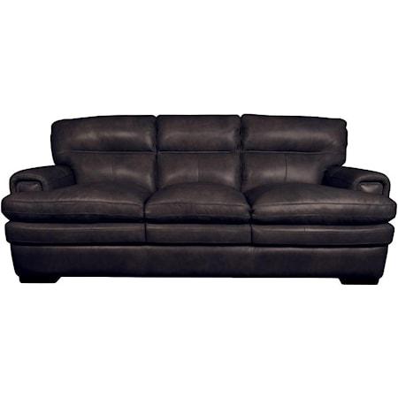 Jake Top Grain Leather Split Sofa