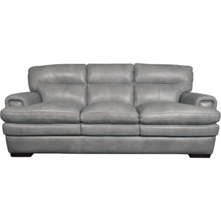 Jake Top Grain Leather Split Sofa