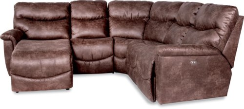 La Z Boy James Four Piece Reclining Sectional Sofa With Ras