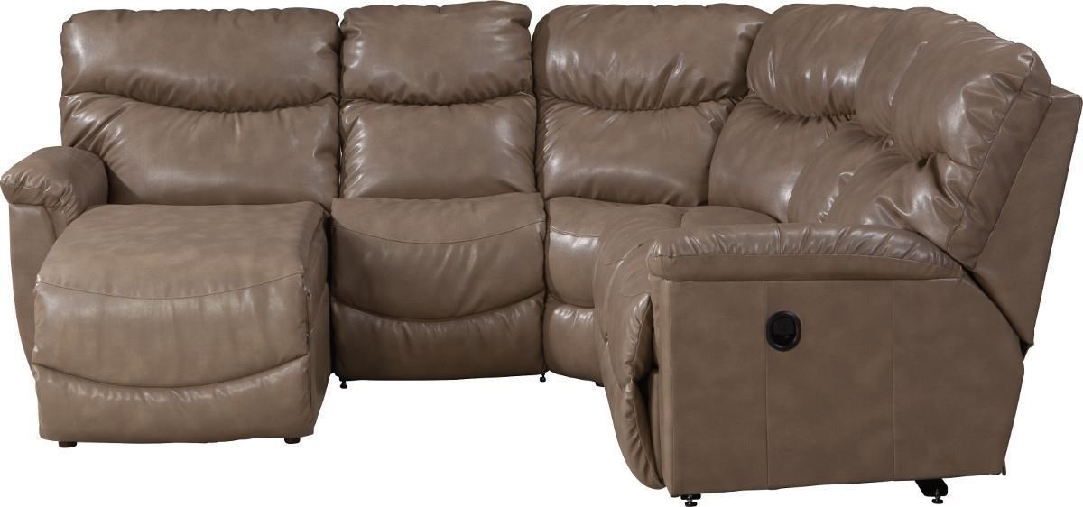 Room accent chairs with ottomans red accent chair with ottoman - La Z Boy James Four Piece Reclining Sectional Sofa With