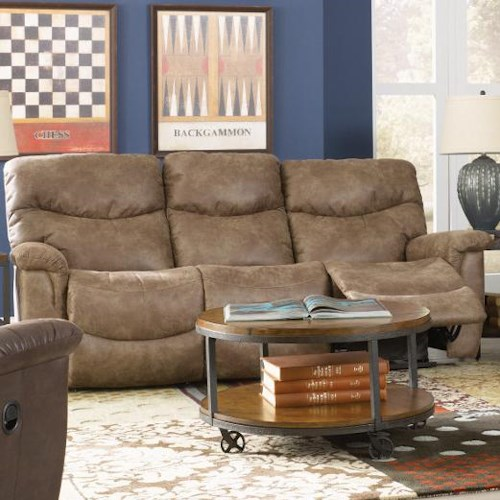 Leather Sectional Sofa Lazy Boy: La-Z-Boy James Casual La-Z-Time® Full Reclining Sofa